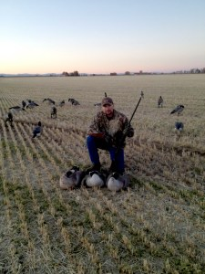 District Wildlife Manager Luke Hoffman on a recent goose hunt.