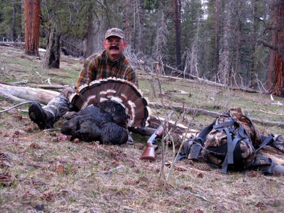 Rick Hooley with a San Juan turkey.