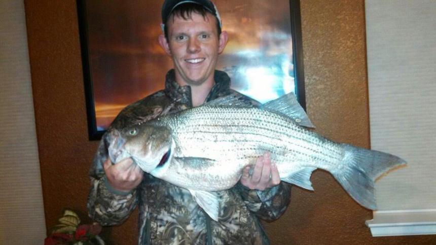 Weston Mosey proudly displays his Lake Pueblo wiper