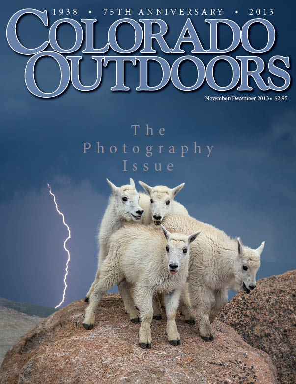 Tomajko's photo, that was the cover of the 2013 Colorado Outdoors Photography Issue, will be displayed at the Smithsonian Museum in September.
