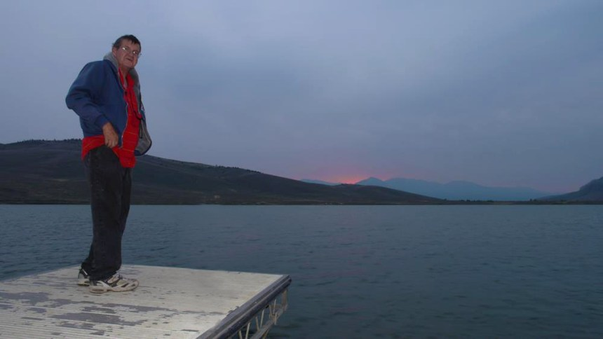 My dad enjoys the sunset on our last trip together at North Delaney Butte Lake. Photo by Jerry Neal/CPW.