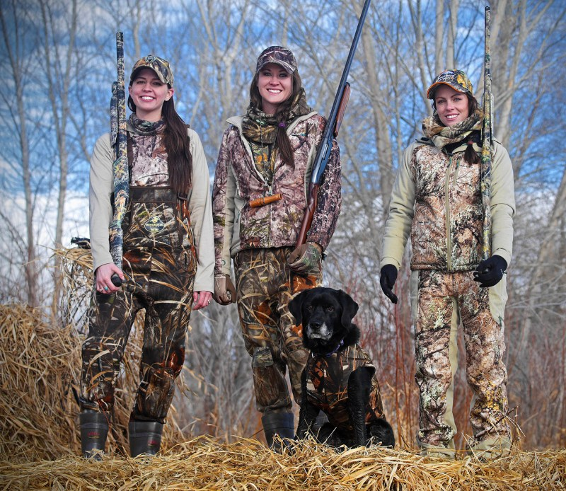 three women waterfowl hunters