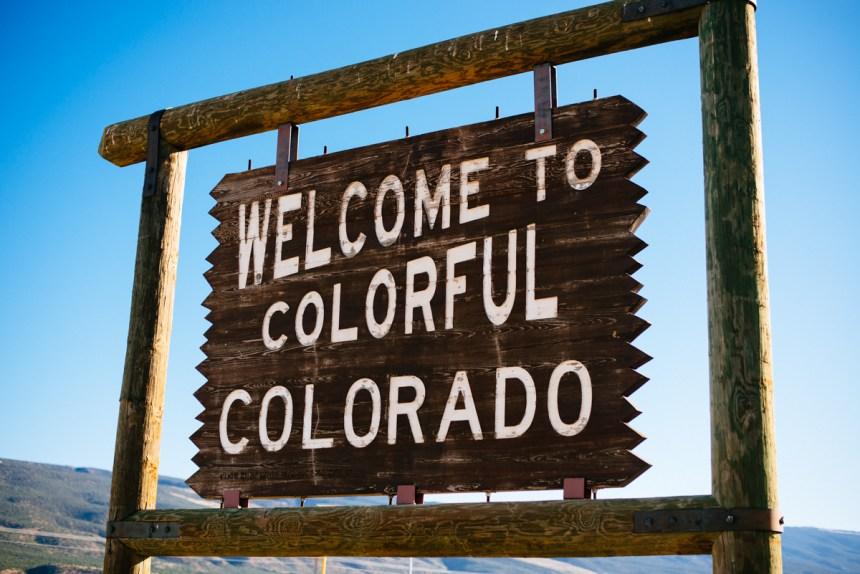 Colorful Colorado sign