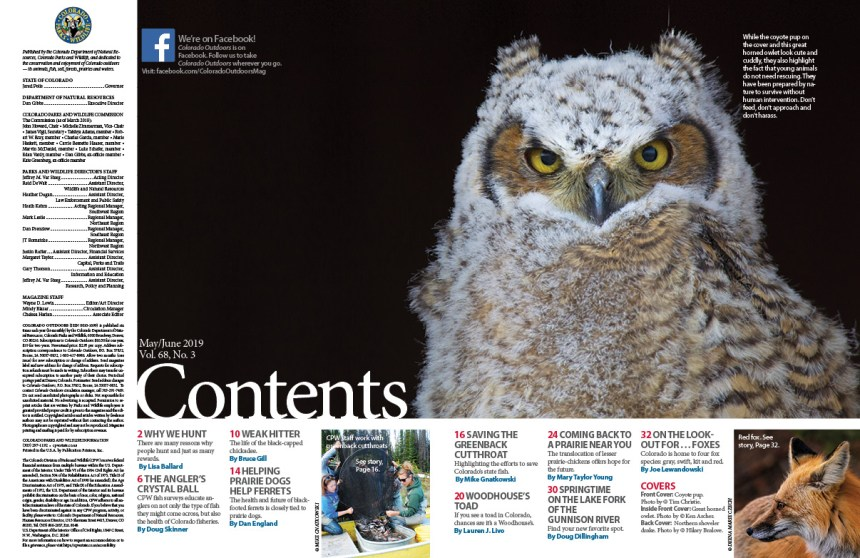 2019 May/June Issue Contents Page