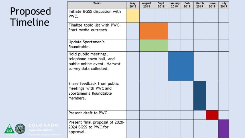 BGSS Process Timeline