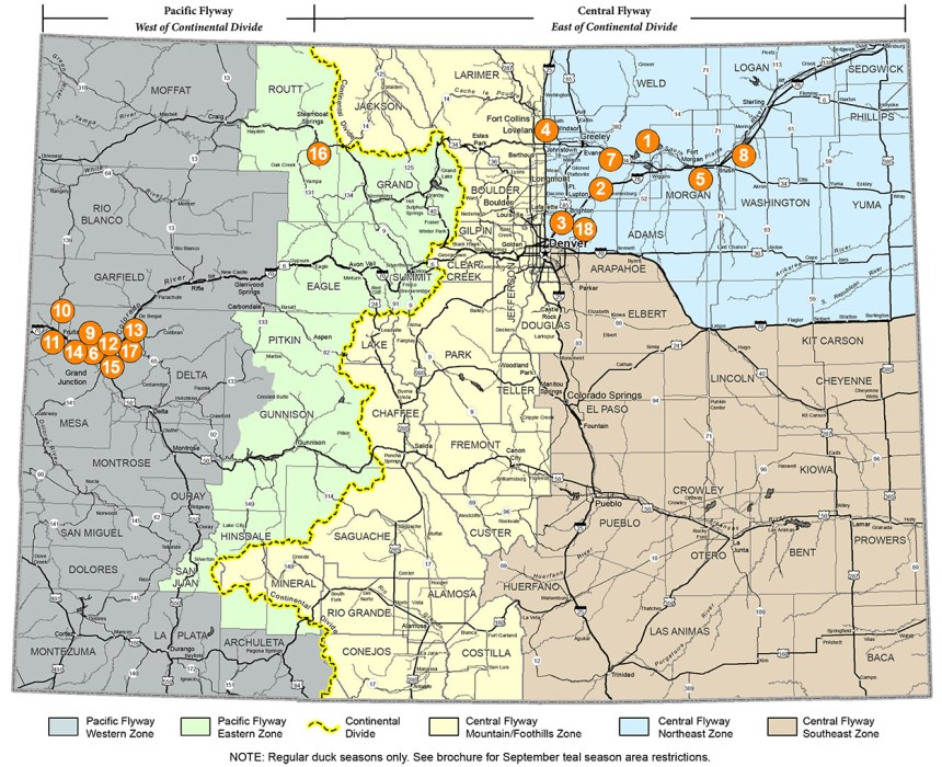 Hunting Reservation System properties map.