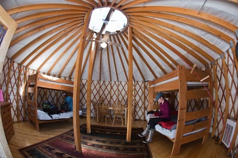yurt interior view