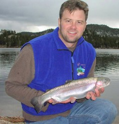 George Schisler with Hofers trout.