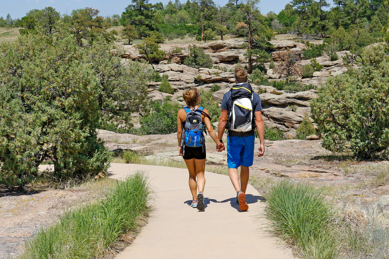 Hikers at Castlewood Canyon State Park
