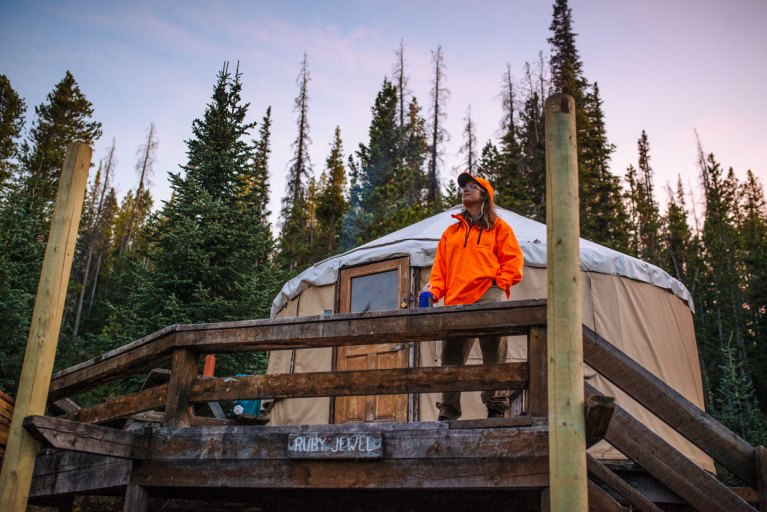 Hunter at Yurt