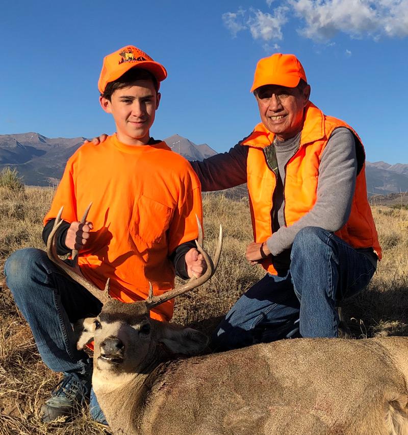 hunter with Buck