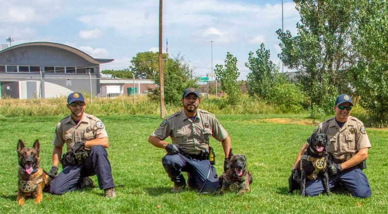 Colorado Parks and Wildlife K9s and their handlers.