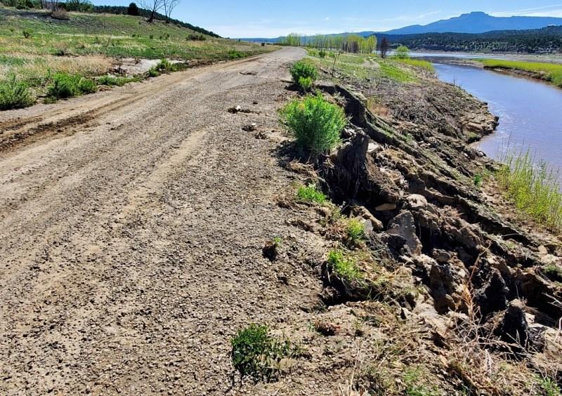 severe erosion along park road