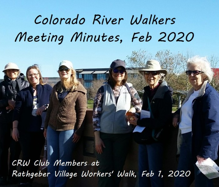 Meeting Minutes February 2020