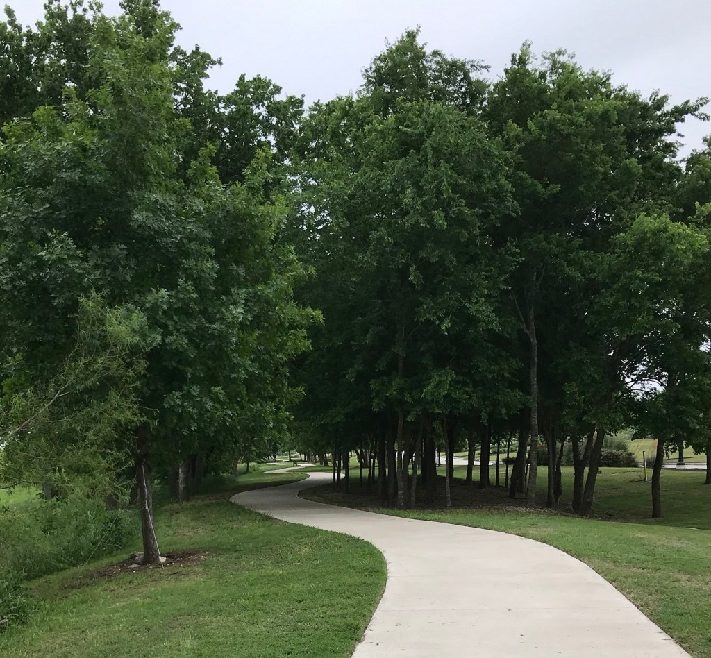 Vizcaya in Round Rock, view of hike and bike trail.