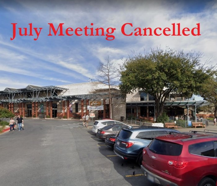 Tonight's CRW Meeting Cancelled