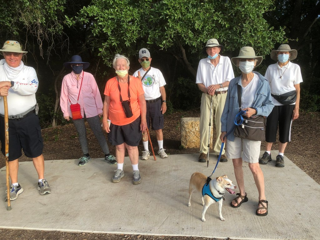 Group of CRW walkers in Old Settlers Park in Round Rock
