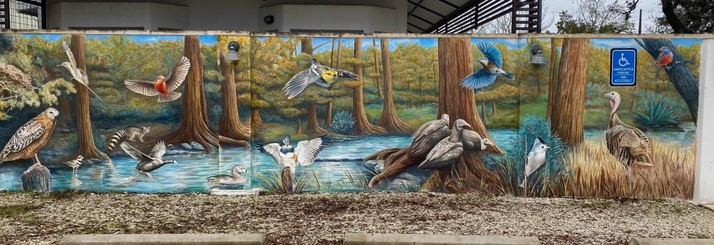 wildlife mural in Wimberley