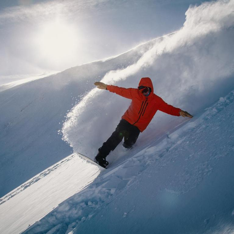 Ski at Colorado Ski area, Wolf Creek, powder skiing
