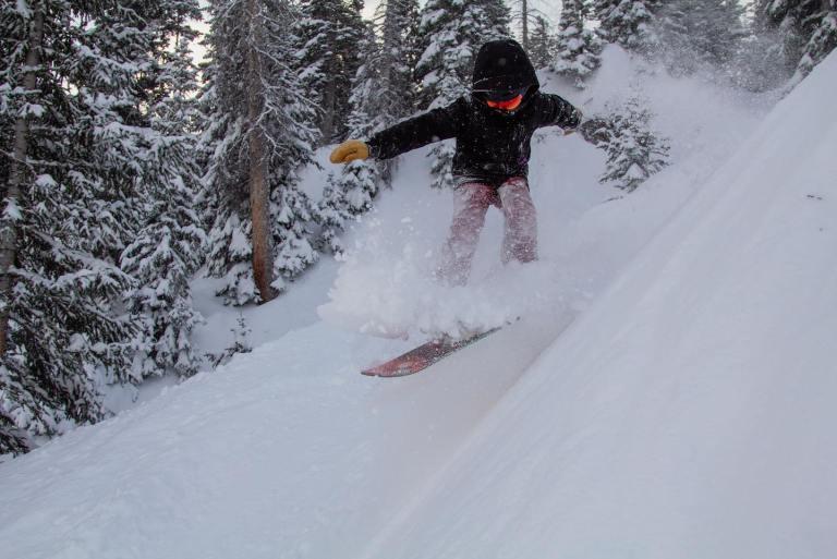 Skier at Wolf Creek Ski Area Colorado powder