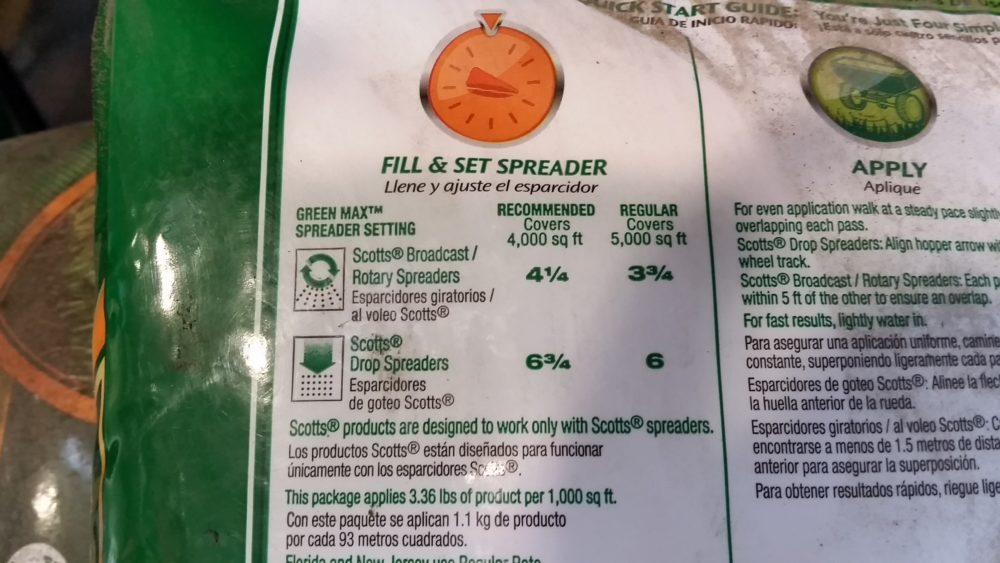 Fertilizer Bag & Spreader Settings