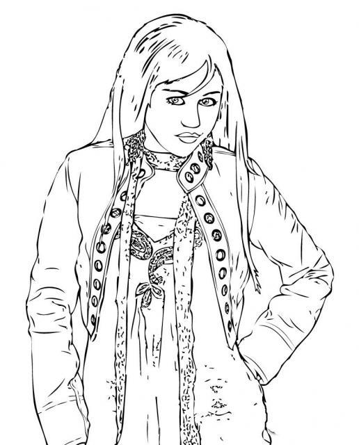 desenhos para colorir hannah montana