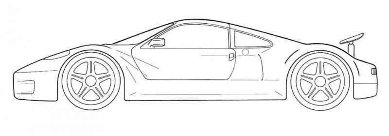 Dibujos Para Colorear De Carros Deportivos Mejores Páginas