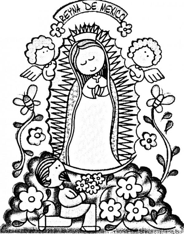 Imagenes Para Dibujar De La Virgencita De Guadalupe Como