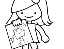 Dibujos Para Colorear Para Ninas Pequenas On Log Wall