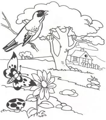 Dibujos De Paisajes Naturales Faciles Para Dibujar On Log Wall