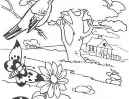 Imagenes De Dibujos De Paisajes Faciles Para Dibujar On Log Wall