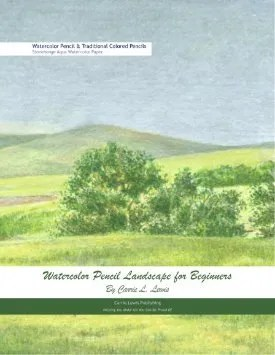 Watercolor Pencil Landscape for Beginners Cover