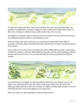 Watercolor Pencil Landscape for Beginners Page 14