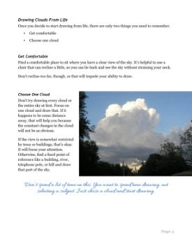 Drawing Clouds from Life Tutorial Page 5