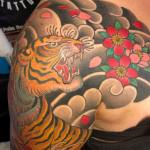 Tiger with Sakura