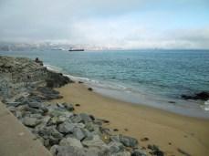 Valparaiso liegt noch im Nebel