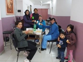 Nachtessen im Peso de Salud mit Gladys un den Kolleginnen