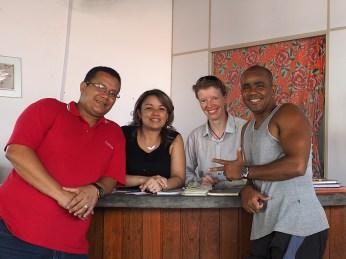 Mit Aracely und Kikiu in der Secretaria de Turismo