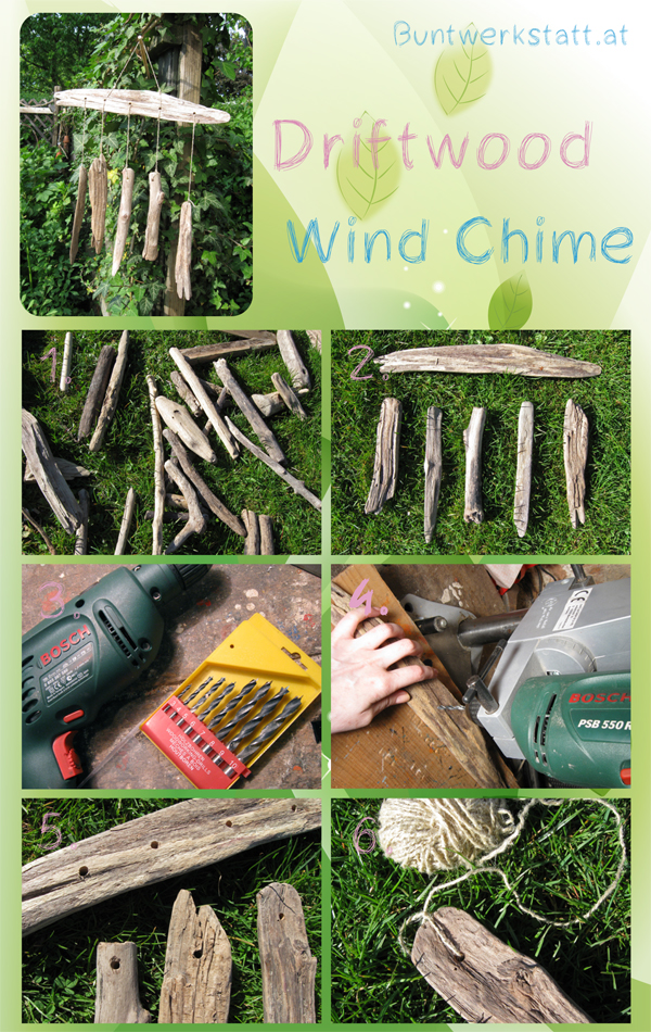 driftwood wind chime tutorial