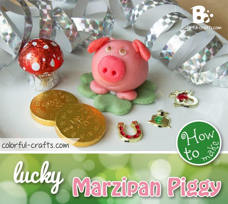 DIY marzipan pig tutorial
