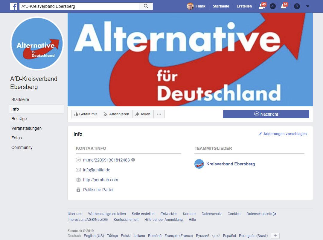 "AfD bei Facebook: ""Blowjob nach der Schule"" - Danke Antifa?"