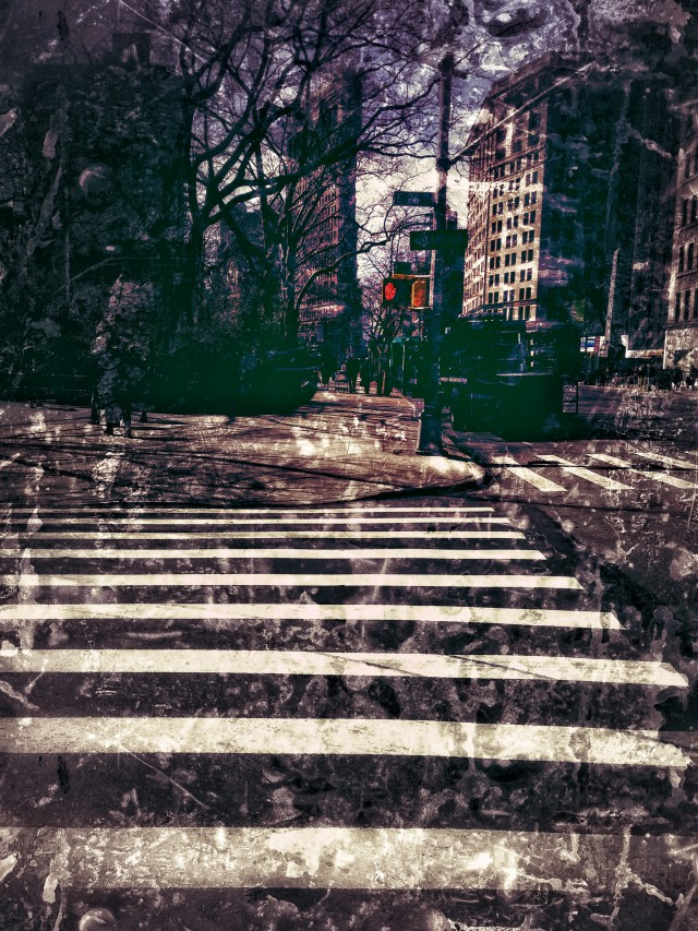 Rote Ampel in Manhattan