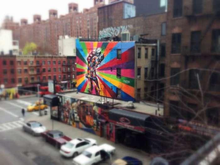 Kunstobjekt an der High Line