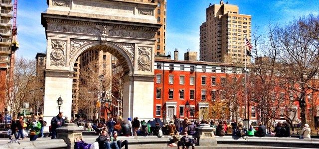 Der Triumphbogen von New York City – der Washington Square Park