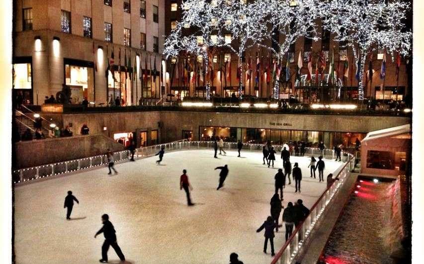 Eislaufen im Rockefeller-Center