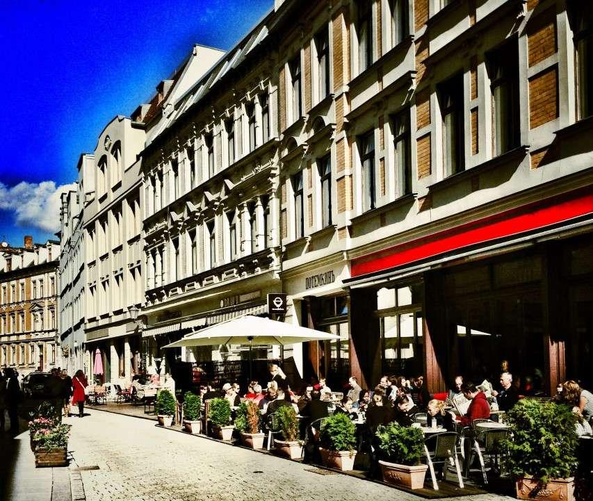 Kneipenviertel in der Kleinen Ulrichstraße in Halle/Saale
