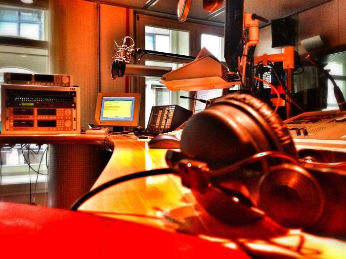 Studio bei WDR 2