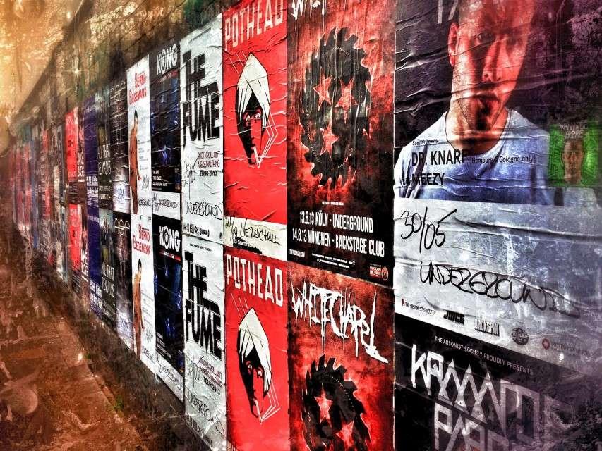 Plakatwand in Ehrenfeld