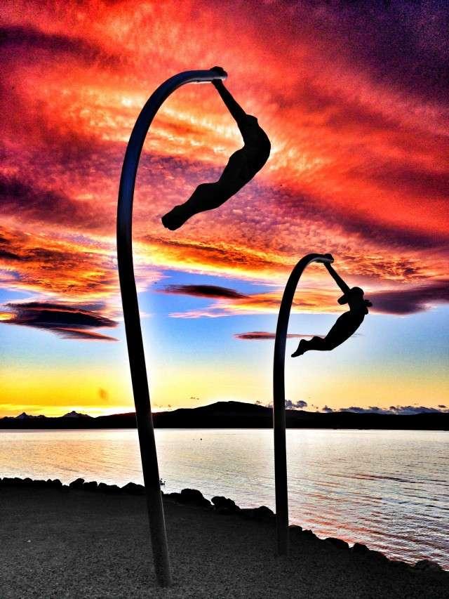 Skulptur in Puerto Natales