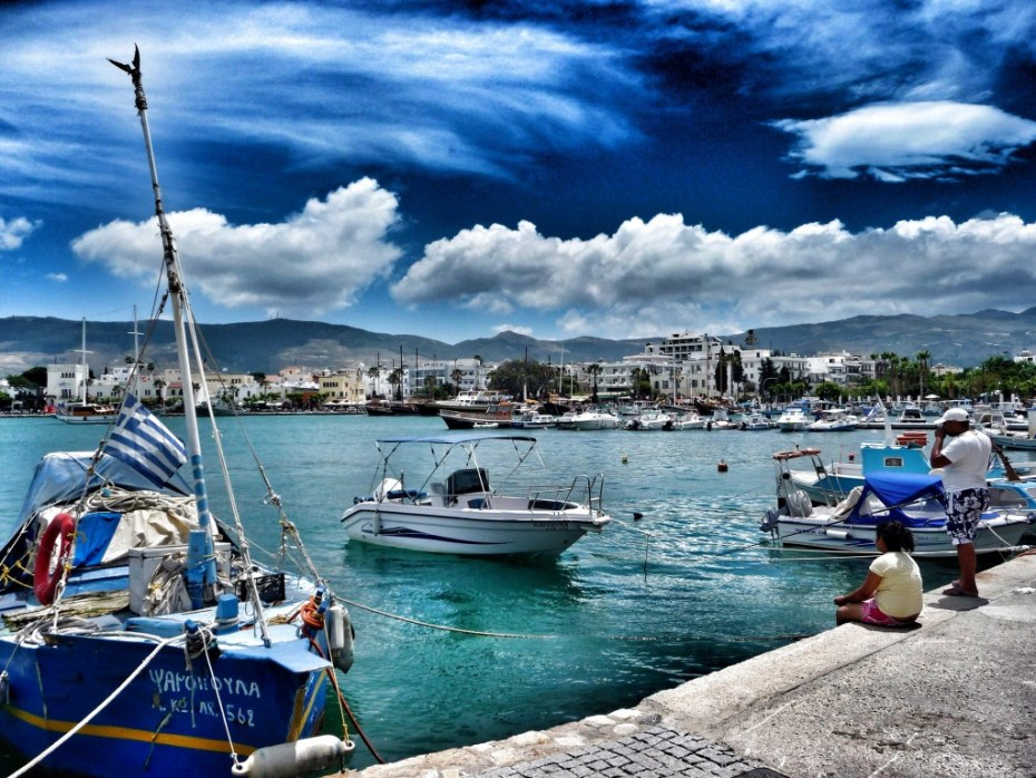 Blick auf den Hafen in Kos